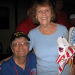 World War II veteran Don Fox is welcomed home by wife, Mary, on the Sept. 8, 2013 version of Villages Honor Flight.