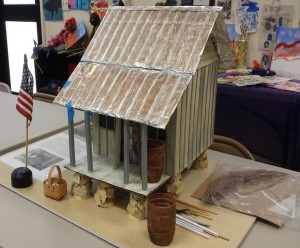 A model of a 19th Century cracker house used by many Royal ancestors.