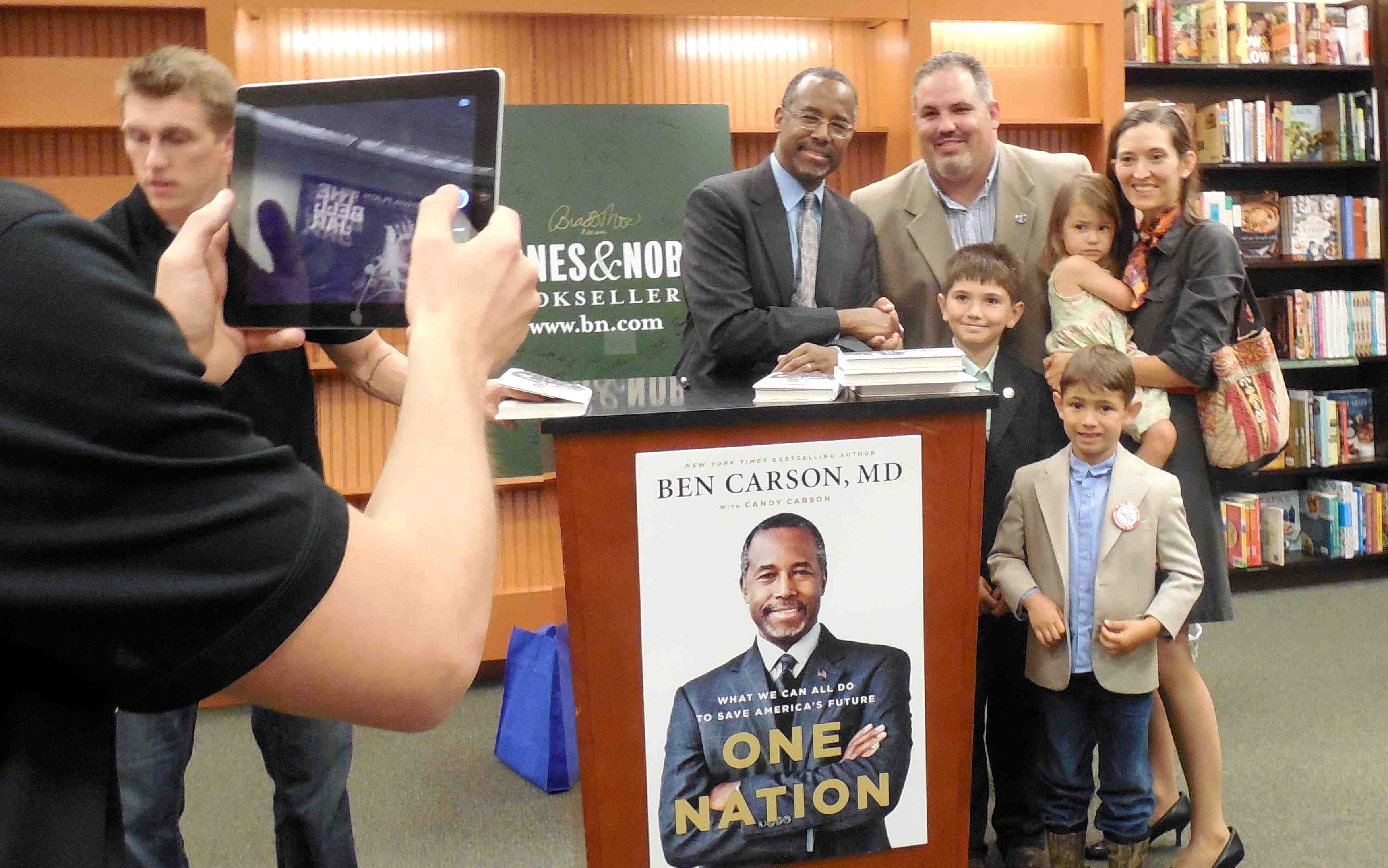 Marion County Commission Chairman Carl Zalak And His Family Are Photographed With Ben Carson