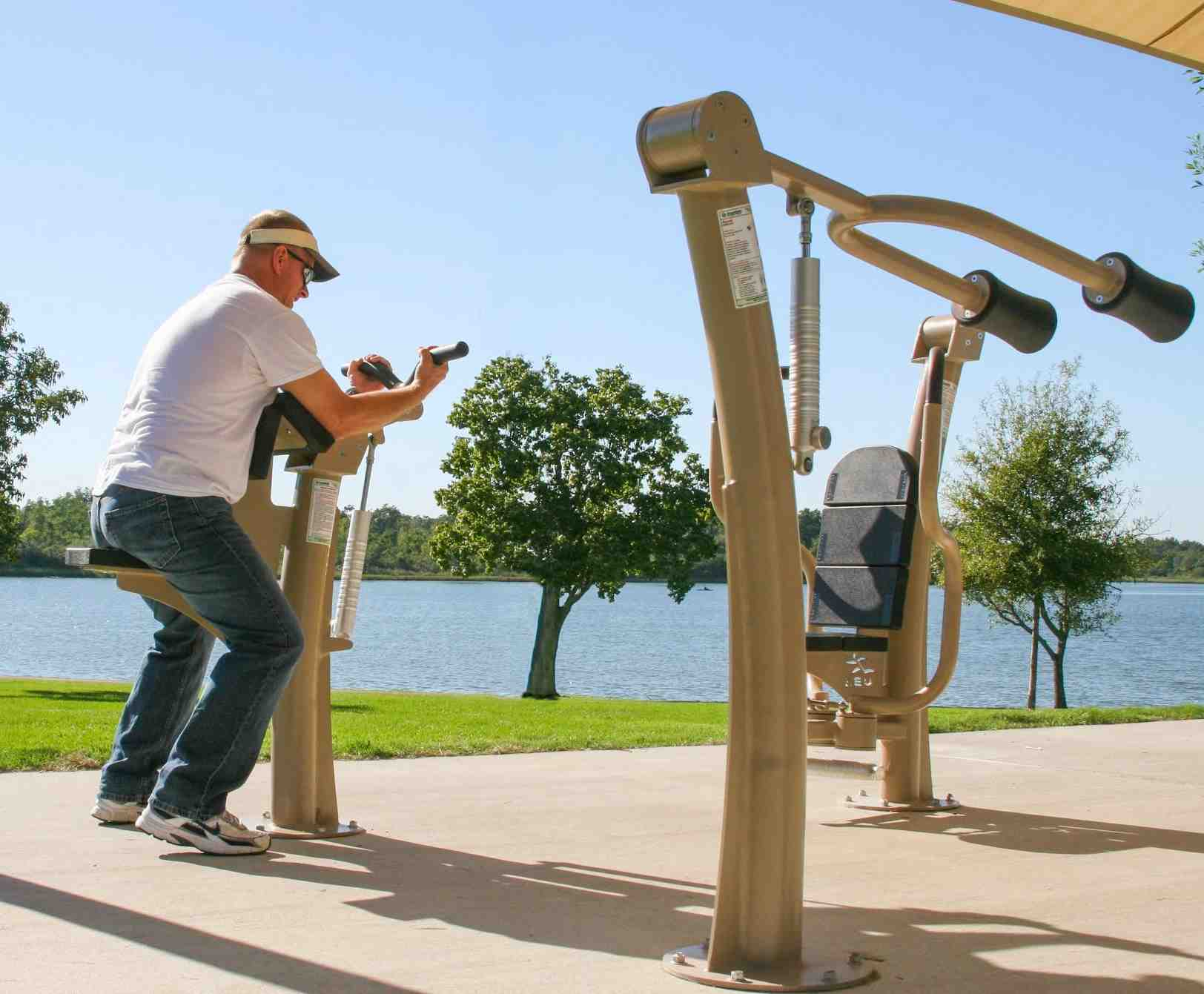 Outdoor Fitness Equipment : Renovated paradise park area b to include outdoor exercise
