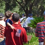 Patriotism was on display Monday at Veterans Memorial Park.