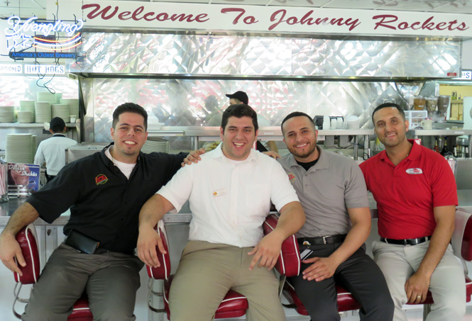 The Suleiman family runs two restaurants here and will soon open a third, from left, David Nate George and Joe. Jack Suleiman is not pictured.
