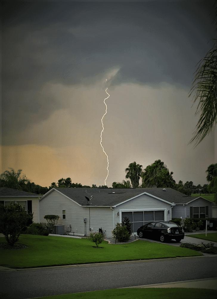 Lightning Strike In The Village Of Amelia